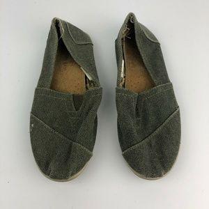 Bahama Bay Size 9.5 Olice Green Flat Shoes